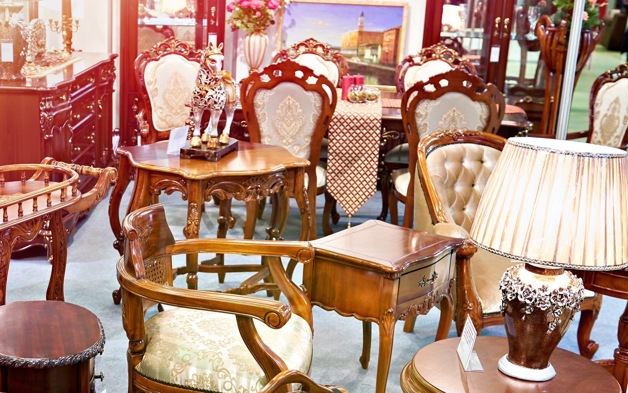 antique furniture pieces are available at ramzs emporium