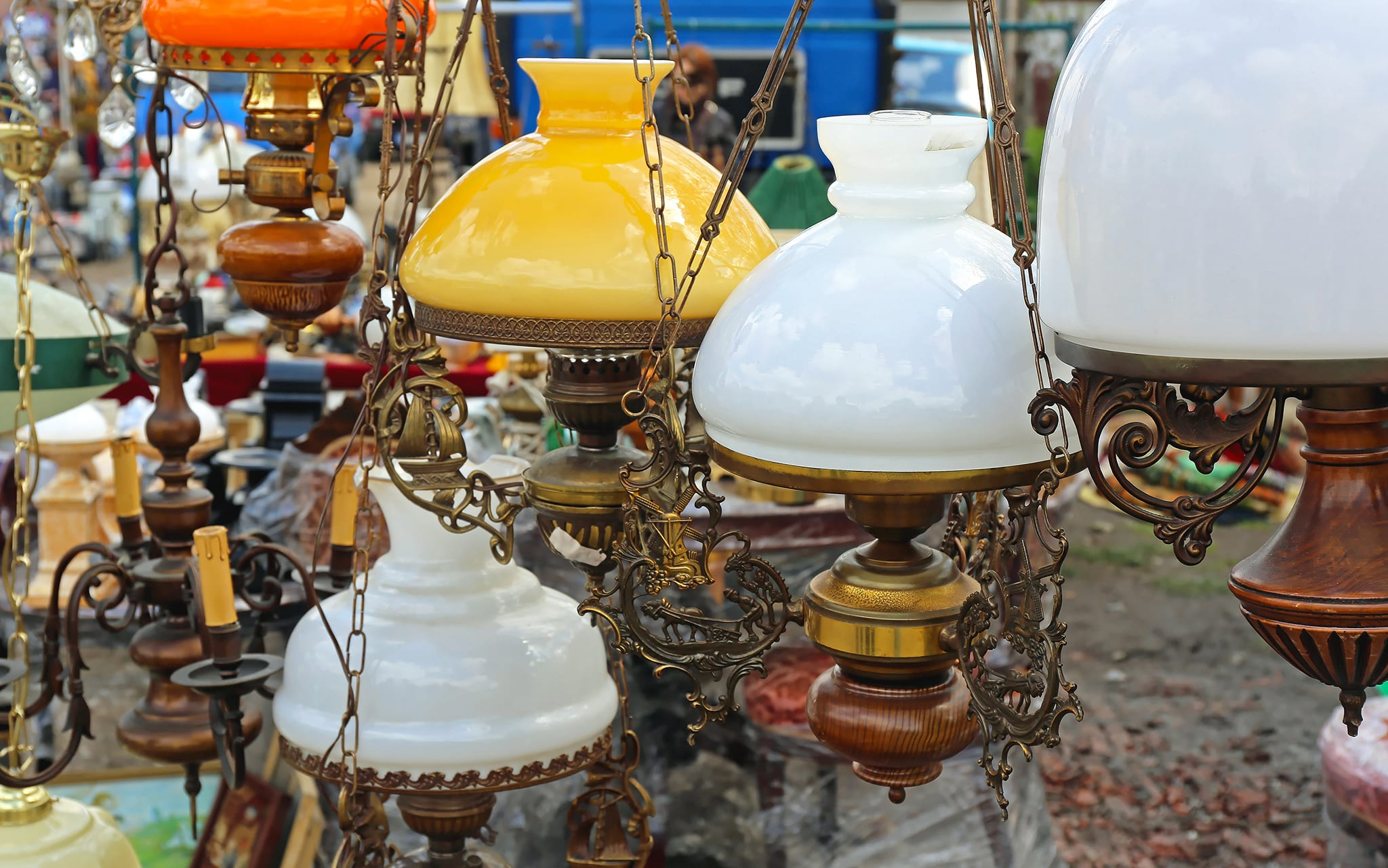bring ambience to your home with a vintage lamp from ramzs emprium lafayette indiana