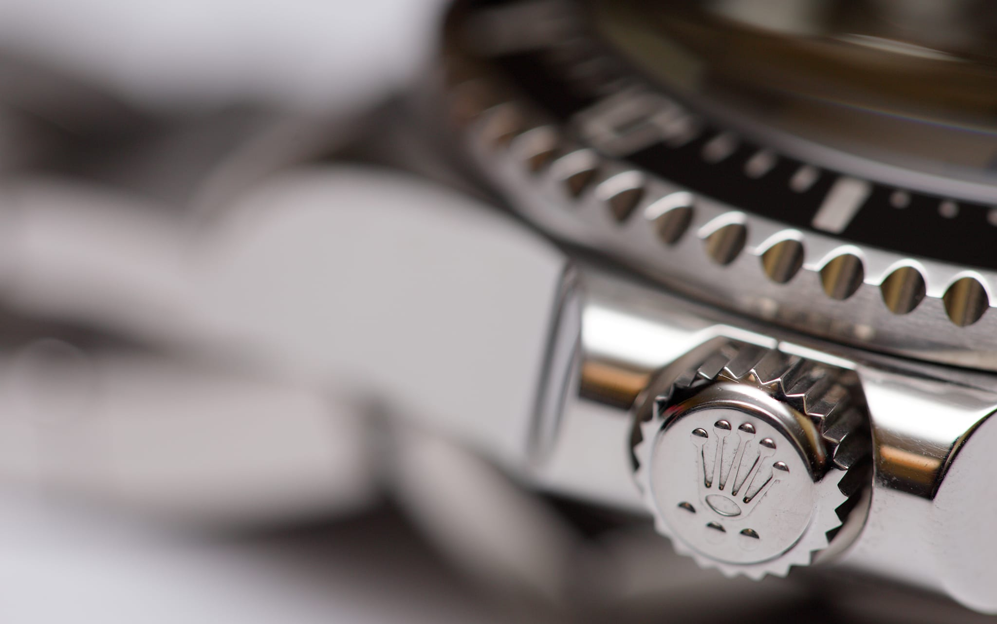 Hallandale, USA - May 16, 2014: Closeup image of a Rolex Deepsea adjustment crown in the locked position.
